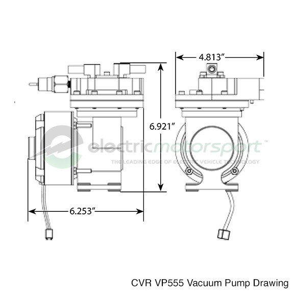 cvr vp555 dimensions cvr vp555 electric 12v vacuum pump brake booster ssbc vacuum pump wiring diagram at readyjetset.co