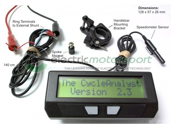 Cycle Analyst HC (High Current) 10V-650V w/ Remote Shunt