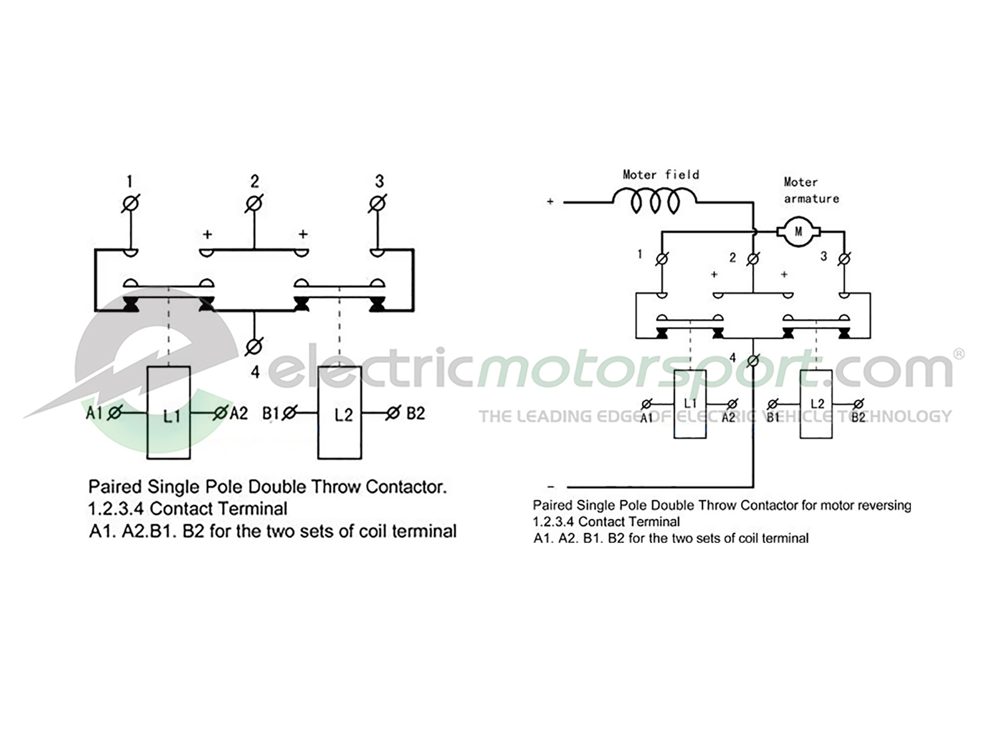 SW202 400A-Cont. Reversing (Change-over) Contactor KitElectric Motorsport